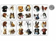 48 DOG DOGGY PUPPY ANIMAL Dot Stickers Kids Party Goody Loot Bag Favors Supply