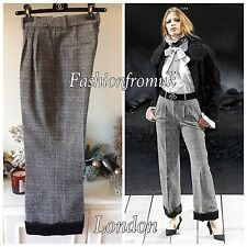 CHANEL RUNWAY F/W11 BLACK CROPPED TROUSERS PANTS SZ 40