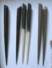 "3 SINGLE 6"" Wood HAIR STICKS Black Brown & mixed with Oval top 14x10 top surface"