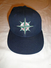 Seattle Mariners Navy Blue MLB Baseball Hat New Era Size 7 59 Fifty