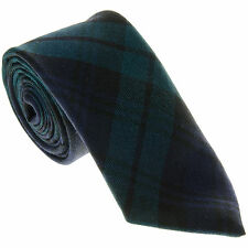 100% Wool Traditional Tartan Neck Tie - Blackwatch