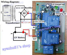 12V 30A Solarpanel Batterielade Power Supply Protection Board Relay Control