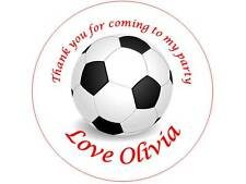 35 Personalised Football Stickers 3 for 2 Thank you Party Seal Birthday Parties