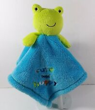 Baby Gear Green Frog w/Blue Lovey Security Blanket  Cute and Hoppy