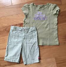 GIRL GYMBOREE TULIP GARDEN BERMUDA SHORTS BIG SISTERS ROCK TOP TEE OUTFIT SET 9