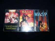 Cassette WASP 4 Heavy Metal lot tapes Last Command Electric Circus self titled