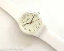 LADIES 'ANTI ALLERGY' ALL PLASTIC ANALOGUE 'WHITE LARGE FACE' WATCH by Reflex