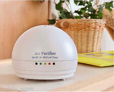 White Mini Air Purifier Quiet Breeze Negative Ionic for Car Home Office Indoors