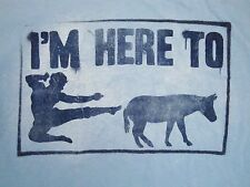 I'm Here To Kick Ass Karate Donkey Butt Funny Martial Arts Punch T Shirt M