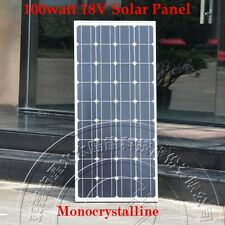 100w 12V Monocrystal Solar Panel Charge 12V Battery - 100 watts sfree shipping