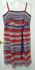 NWT A.P.N.Y. II womens plus Purple Red Coral DOT Dress* 18  New