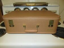 "Vintage Starline Pinkish 21"" Hard Side Suitcase w/Key - Very Nice Condition!"