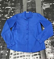 NWOT JIL SANDER LONG SLEEVES BLUE COLLAR TOP BLOUSE MADE IN ITALY Sz 36 VHTF TDF