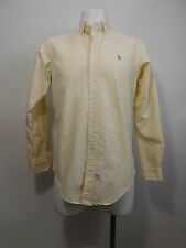Oxford Ralph Lauren Pinstripe Shirt Button 15-35 Frat Boy Mens Yellow Large YYRL