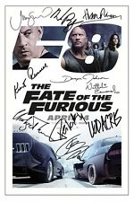 FATE OF THE FURIOUS  CAST X10 SIGNED PHOTO PRINT AUTOGRAPH POSTER FAST FURIOUS 8