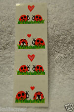 Mrs Grossman Ladybug LOVEY BUGS Stickers Love Valentine Hearts Lovebug