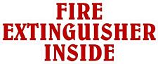 "1 - 3""x 7.5"" Fire Extinguisher Inside Decal Sticker Semi Truck Whtie Red 1905"