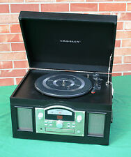 Crosley Archiver USB Phonograph Record Player Turntable CR6001 CD Player Black