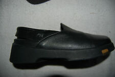 Black Leather Birkenstock FOOTPRINTS Slingback Style Low Shoes EU 36 US 5 - 5.5