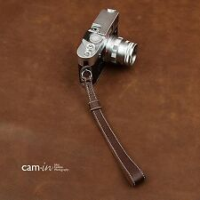 CAM2024 Cam-in Leather Wrist strap Hand Coffee Nikon Leica Canon Sony Ring