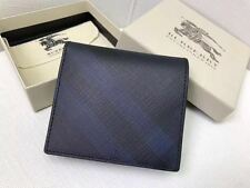Authentic Burberry Blue/black LONDON CHECK ID WALLET