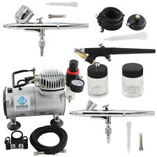 New OPHIR 110V Air Compressor With 3x Airbrushing Kit for Hobby Model Painting