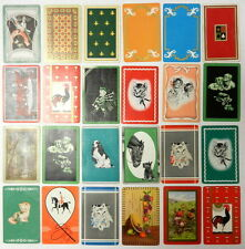 Swap Playing Cards  ~ ASSORTMENT ~  Cats, Dogs, Rooster, Horses ~ Lot of 24