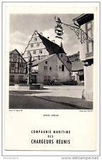 Menu Compagnie Maritime des Chargeurs Réunis 1952 Alsace - Andlau - S.N.C.F.