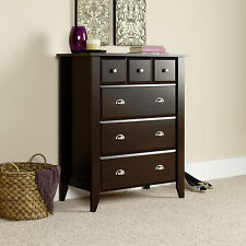 New Sauder Furniture Shoal Creek 4 Drawers Dresser Chest Jamocha Wood Finish