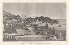 Genova, veduta dalla torre di S.Tommaso 1834 bulino