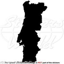 PORTOGALLO Mappa-Forma Portoghese Adesivo Sticker, Finestra QUALSIASI COLORE