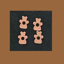 Set of 100 Light Brown GINGERBREAD GIRL Embossed Shaped Eyelets Christmas