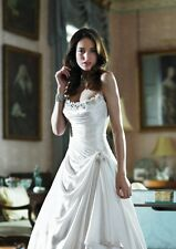 Alan Hannah Anais Ivory Silk Wedding Dress UK Size 12 RRP Over £2000