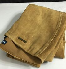 Ralph Lauren Polo Lamb Suede Pants Womens Small Flat Brown New