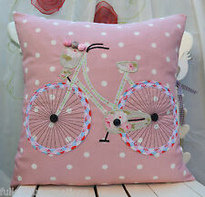"Cushion cover""Bicycle""Applique Cath Kidston Other Fabric Unique Handmade Gift 3"