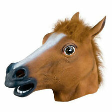 Holloween Party Costume Horse head latex rubber Mask Adult Prop Novety Creepy #1