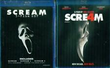 Scream 1 2 3 4 Complete Film Collection Blu-ray Set Horror Scary Ghost Face Lot