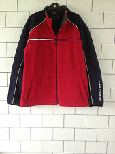 RARE TOMMY HILFIGER URBAN VINTAGE RETRO FLEECE SWEATSHIRT SWEATER JACKET UK XXL