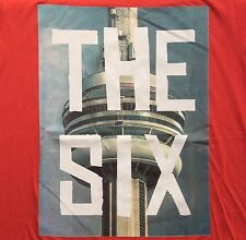"""The Six"" Red T-Shirt Toronto Tdot OVO Tower Raptors Drake Hip Hop Style Size XL"