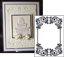 Floral Rectangle Frame embossing folder - Crafts Too Folders CTFD3093 wedding