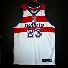 100% Authentic Michael Jordan Washington Bullets Nike NBA Jersey Size 48 XL