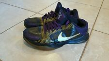 2010 Nike Zoom KOBE 5 SZ 11.5 POP CARPE DIEM PLAYOFF BLACK DEL SOL PURPLE GOLD