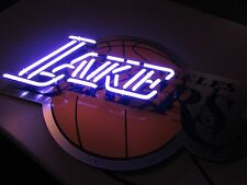 "Bud Light Lakers NBA ""Lake"" Glass Tubing Beer Neon Sign Replacement Part Section"