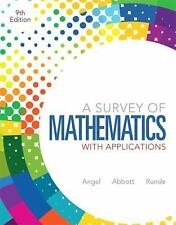 A Survey Of Mathematics With Applications by Allen R Angel