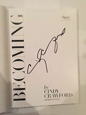 Cindy Crawford rare AUTOGRAPHED book - Becoming-see photo signing proof attached