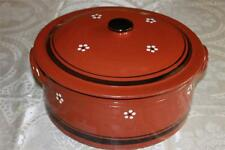 "TERRACOTTA CLAY HAND-PAINTED XL ""PANELA DE BARRO"" COVERED CASSEROLE-PORTUGAL"