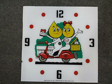 "*NEW* 15"" ESSO SCOOTER GASOLINE HOT ROD SQUARE GLASS clock FACE FOR PAM"