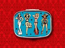 SAILOR GIRL BURLESQUE PIN UP TATTOO METAL PILL BOX CASE