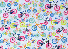 BIKE  BICYCLE  FIELD DAY  PEDAL POWER  COTTON FABRIC TIMELESS TREASURES  YARDAGE
