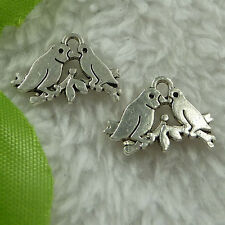 free ship 400 pieces tibet silver magpie charms 17x12mm #2806